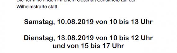 Anmeldetermine für den Kindertrödelmarkt am 25.08.2019